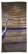 Blue Heron - Shallow Water Beach Towel