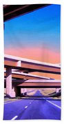 Blue Highway 7 Beach Towel