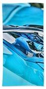 Blue Hood Ornament-hdr Beach Towel
