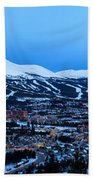 Blue Hour In Breckenridge Beach Towel