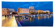 Blue Hour Zadar Waterfront View Beach Towel