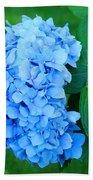 Blue Hydrangea Flower Art Prints Nature Floral Beach Towel