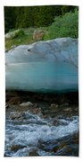 Blue Ice Beach Towel