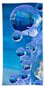 Blue Ice Bubbles Beach Towel
