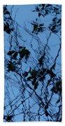 Blue Ink Beach Towel