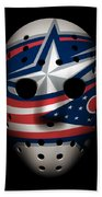 Blue Jackets Goalie Mask Beach Towel