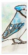 Blue Jay Beach Towel