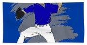 Blue Jays Shadow Player3 Beach Towel