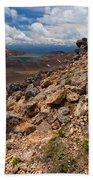 Blue Lake Of Tongariro National Park New Zealand Beach Towel