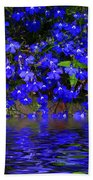 Blue Lobelia Beach Towel