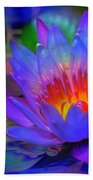 Blue Lotus Beach Towel