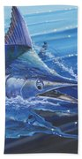 Blue Marlin Strike Off0053 Beach Towel
