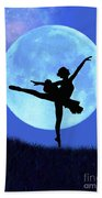 Blue Moon Ballerina Beach Towel