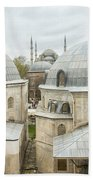 Blue Mosque View From Hagia Sophia Beach Towel