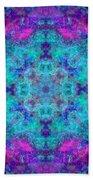 Blue Opal Rainbow Mandala Beach Towel