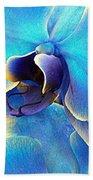 Blue Orchid Macro Beach Towel