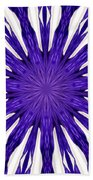 Blue Orchid Sunburst Kaleidoscope Beach Towel