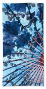 Blue Ornamental Thai Umbrella Beach Towel
