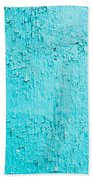 Blue Paint Background Grungy Cracked And Chipping Beach Towel