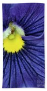 Blue Pansy Beach Towel
