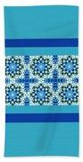 Blue Patchwork 2 Beach Towel