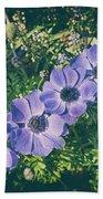 Blue Poppies Blooms Beach Towel