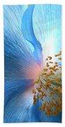 Blue Poppy Beach Towel