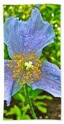 Blue Poppy In Les Jardins De Metis Or Reford Gardens Near Grand-metis-quebec Beach Towel