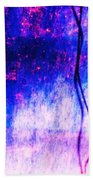 Blue Purple White Metal Beach Towel