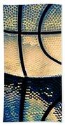 Blue Basketball Beach Towel