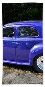 Blue Restored Willy Car Beach Towel