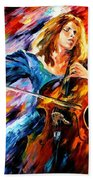 Blue Rhapsody - Palette Knife Oil Painting On Canvas By Leonid Afremov Beach Towel