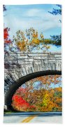 Blue Ridge Autumn Bridge Beach Towel