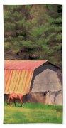 Blue Ridge Horses Beach Towel