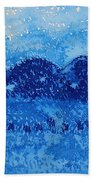 Blue Ridge Original Painting Beach Towel