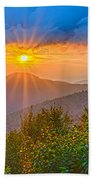 Blue Ridge Parkway Late Summer Appalachian Mountains Sunset West Beach Towel