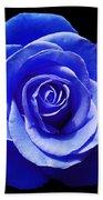 Blue Rose Beach Towel