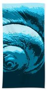 Blue Shell - Sea - Ocean Beach Towel