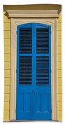 Blue Shutter Door - New Orleans Beach Towel