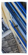 Blue Shutters In New Orleans Beach Towel