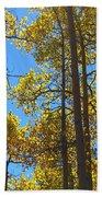 Blue Skies And Golden Aspen Trees Beach Towel