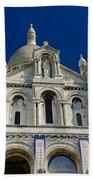 Blue Sky Over Sacre Coeur Basilica Beach Towel