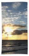 Blue Sky Sunrise Beach Towel