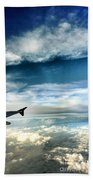 Blue Sky Wing Beach Towel