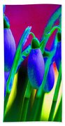 Blue Snowdrops Beach Towel