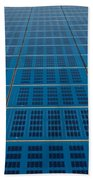 Blue Solar Panel Collector View Beach Towel