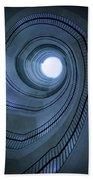 Blue Spiral Staircaise Beach Towel
