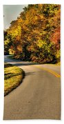 Blue Star Highway In Fall Beach Towel