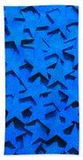 Blue Stars Beach Towel