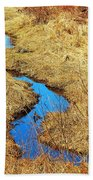 Blue Stream Beach Towel